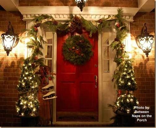 Christmas porch Christmas Pinterest Christmas porch, Porch and
