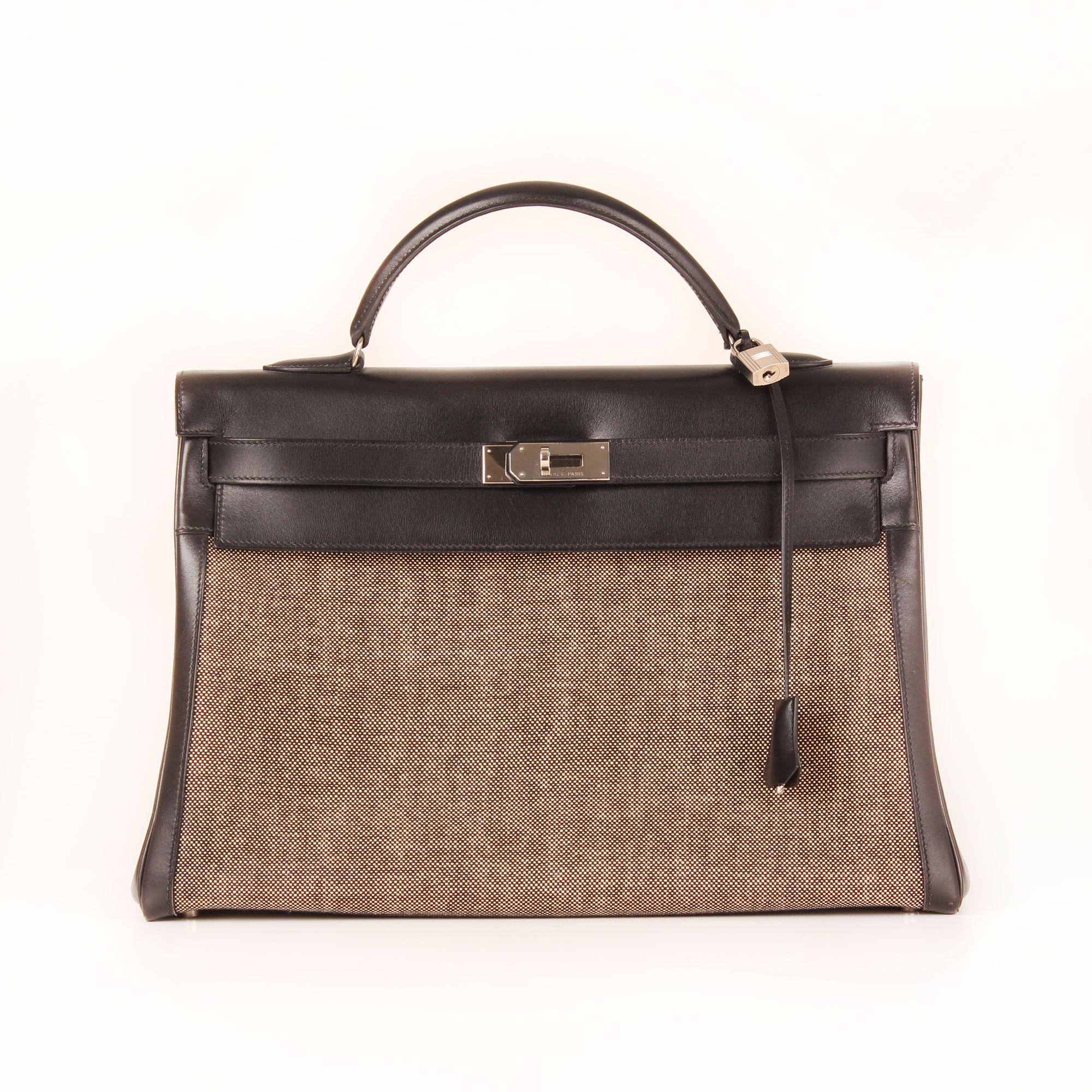 6b580d50a5e hermes-bag-kelly-40-canvas-black-leather