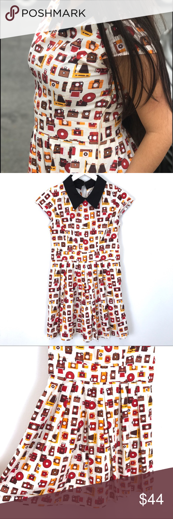 Fervour black orange dress modcloth