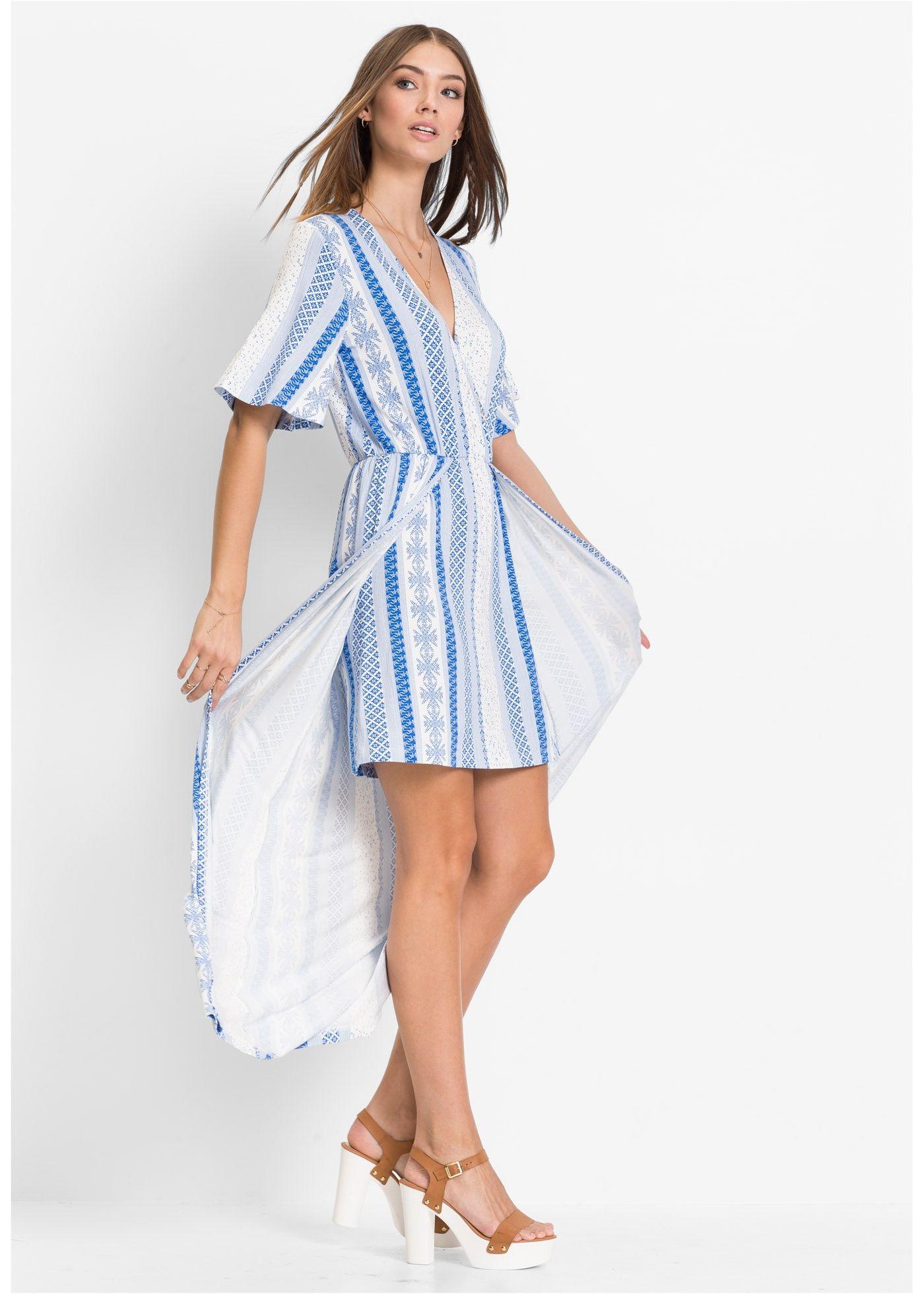 e5dc6daf5d7ad Shirtkleid in 2-in-1-Optik weiß blau bedruckt - RAINBOW jetzt im Online Shop  von bonprix.de ab   32
