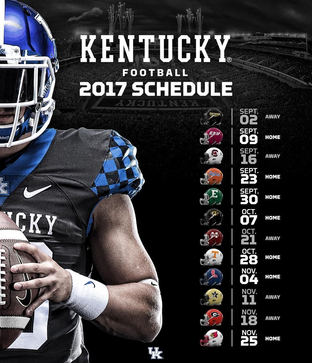 Kentucky's 2017 football schedule was just announced by