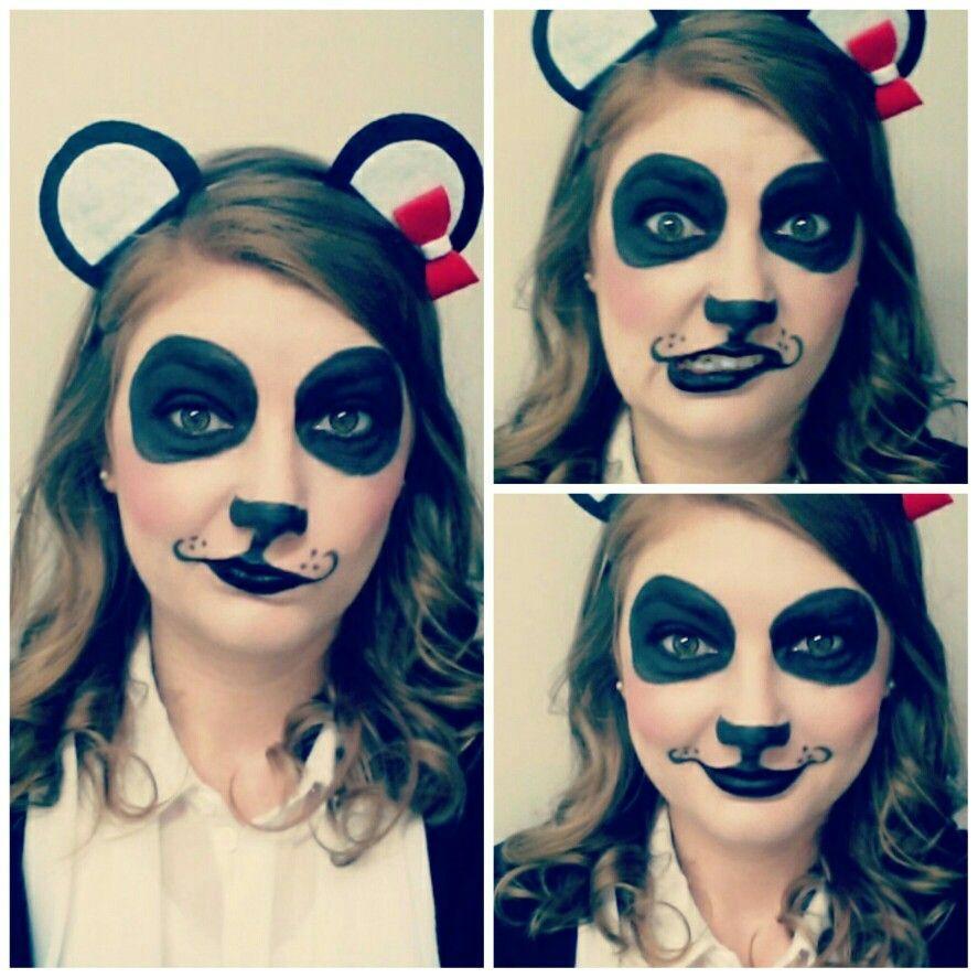 Panda makeup | Panda makeup, Halloween costumes makeup ...