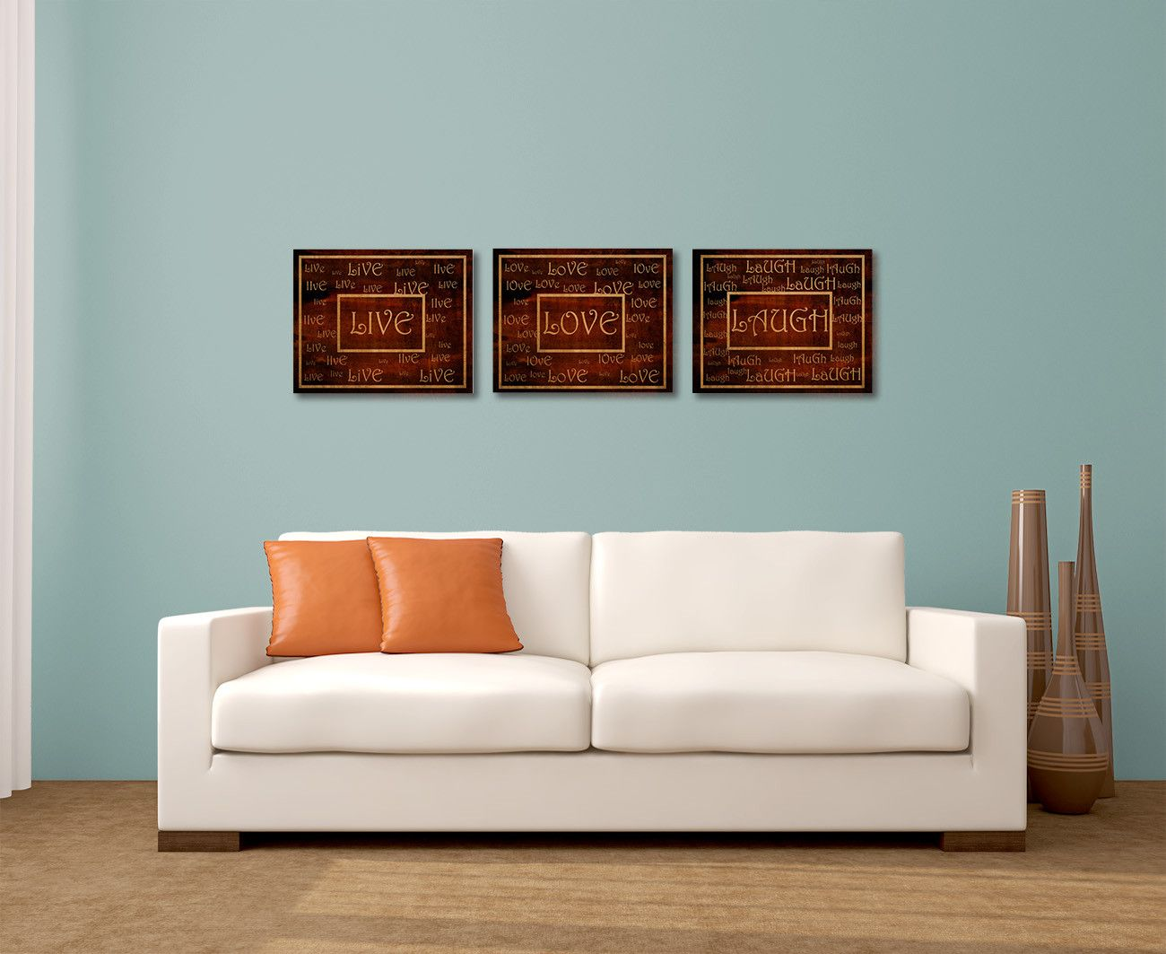 Live Love Laugh Wall Art Display Create This Living Room Wall Art Display  And Spread The