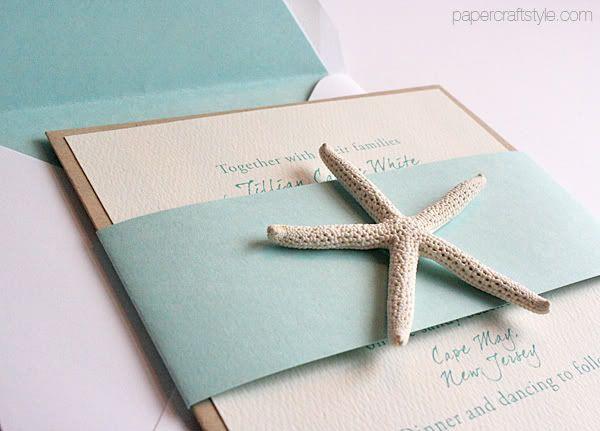beach wedding invitations with starfish new wedding - Starfish Wedding Invitations