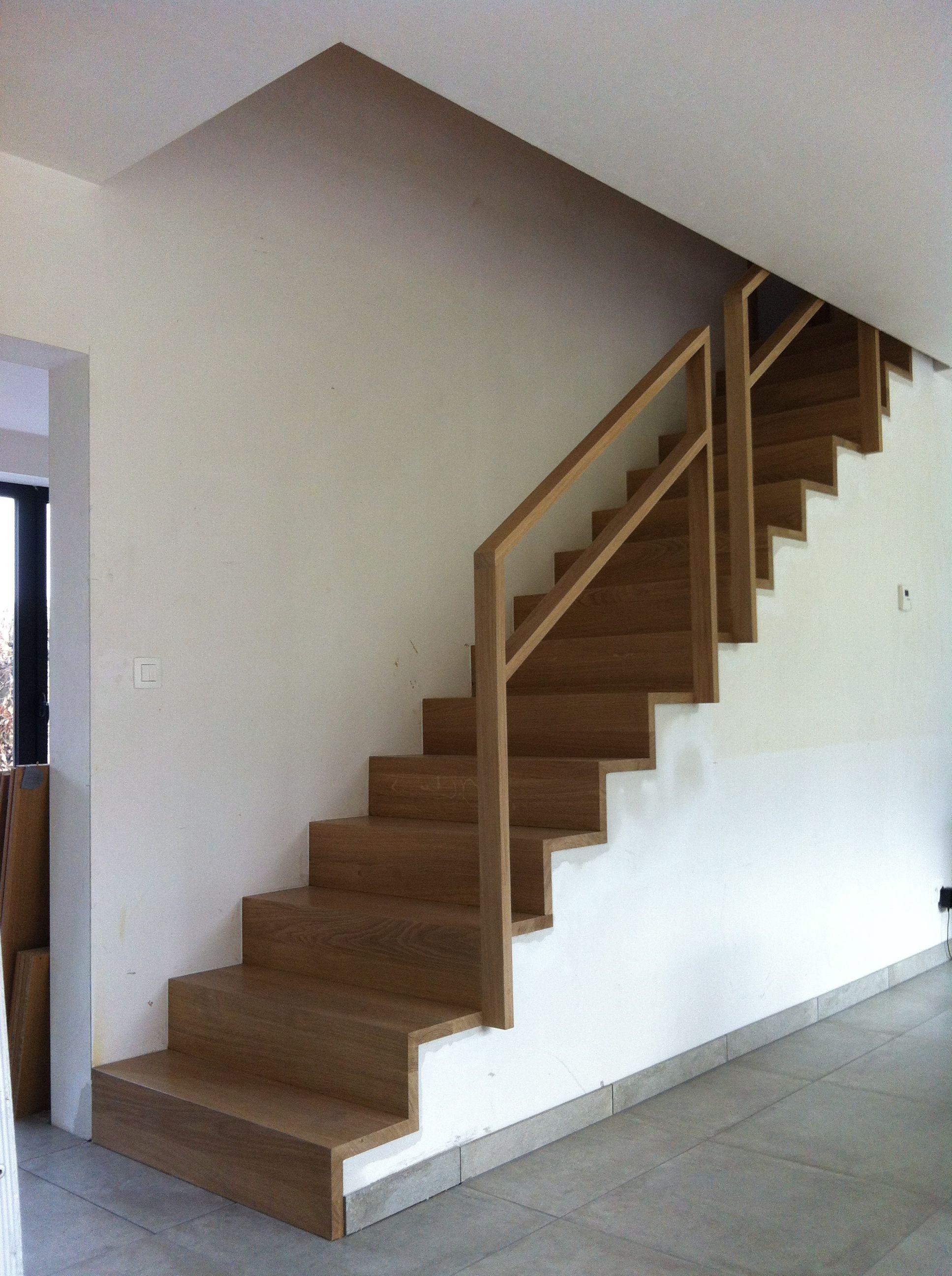 Escalier En Chene Sans Nez De Marche Recouvrement D Un Escalier En Beton Escalier En Chene Nez De Marche Escalier Beton