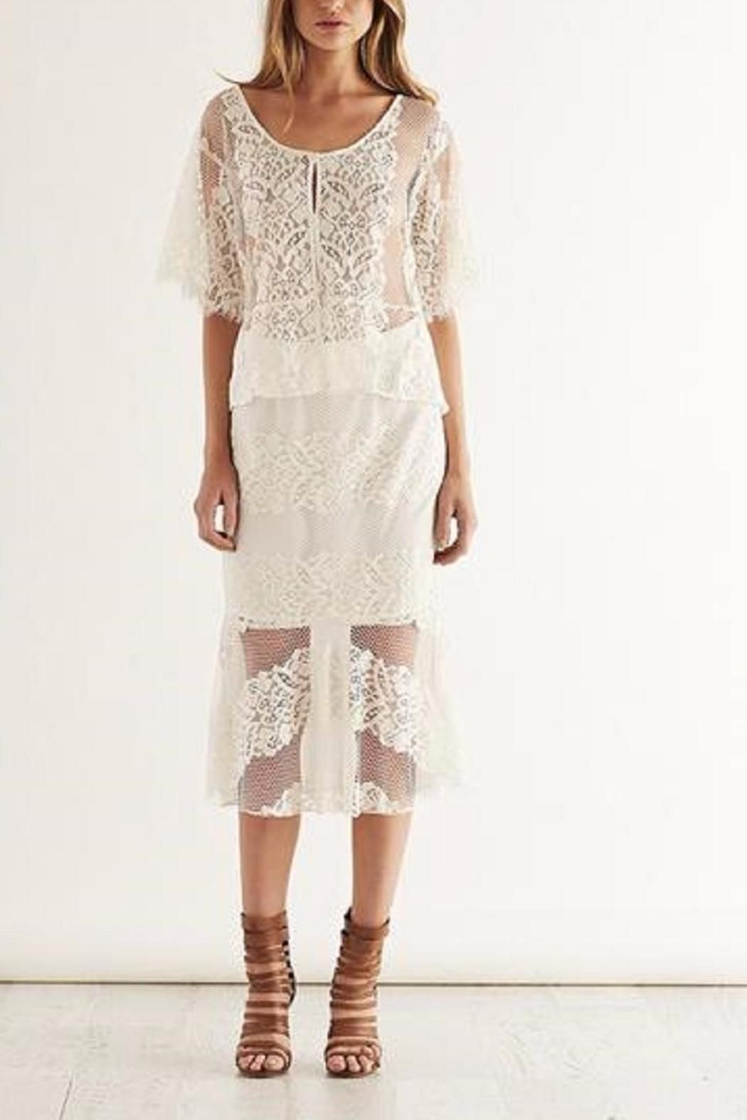 Lace Skirt Cream   Lace, Beautiful and Flare