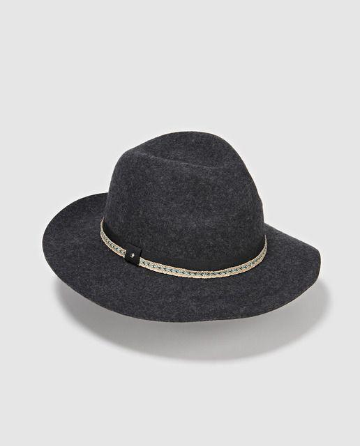 15adbb6cb325b Sombrero Indiana negro