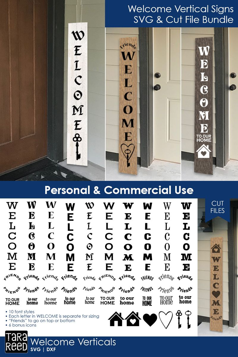 Welcome Vertical Signs Welcome Svg Files For Crafters Welcome Signs Front Door Wooden Welcome Signs Porch Welcome Sign