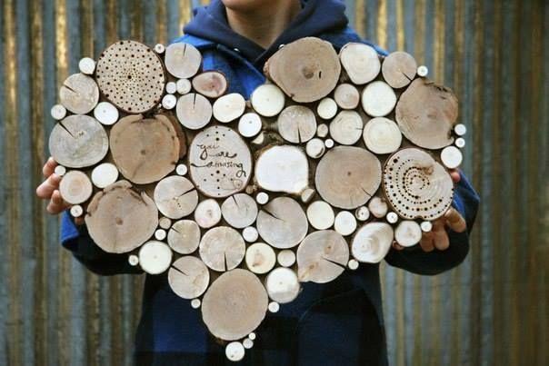 en rondelles de bois