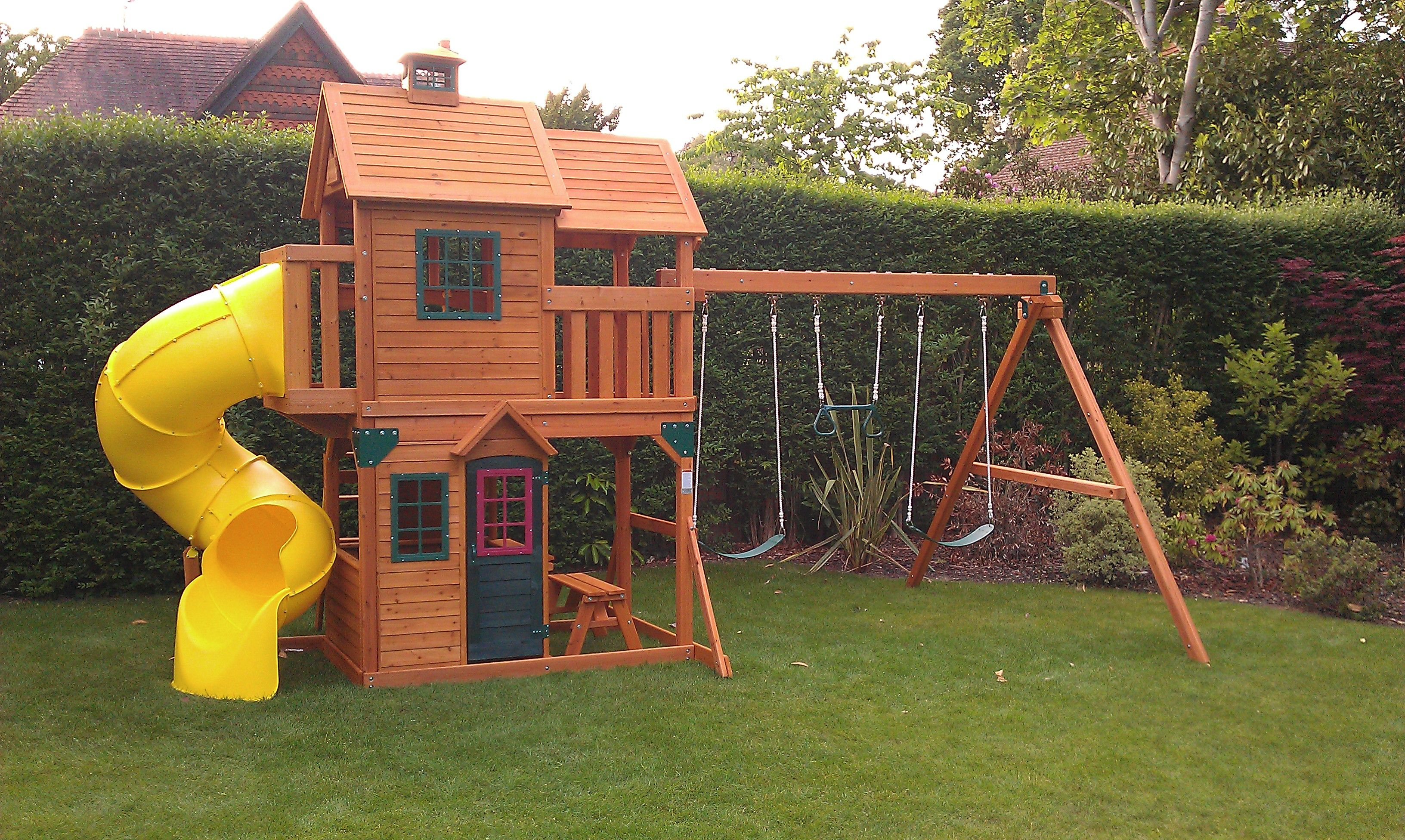 Wooden Playsets Costco Panorama Selwood Climbing Frame