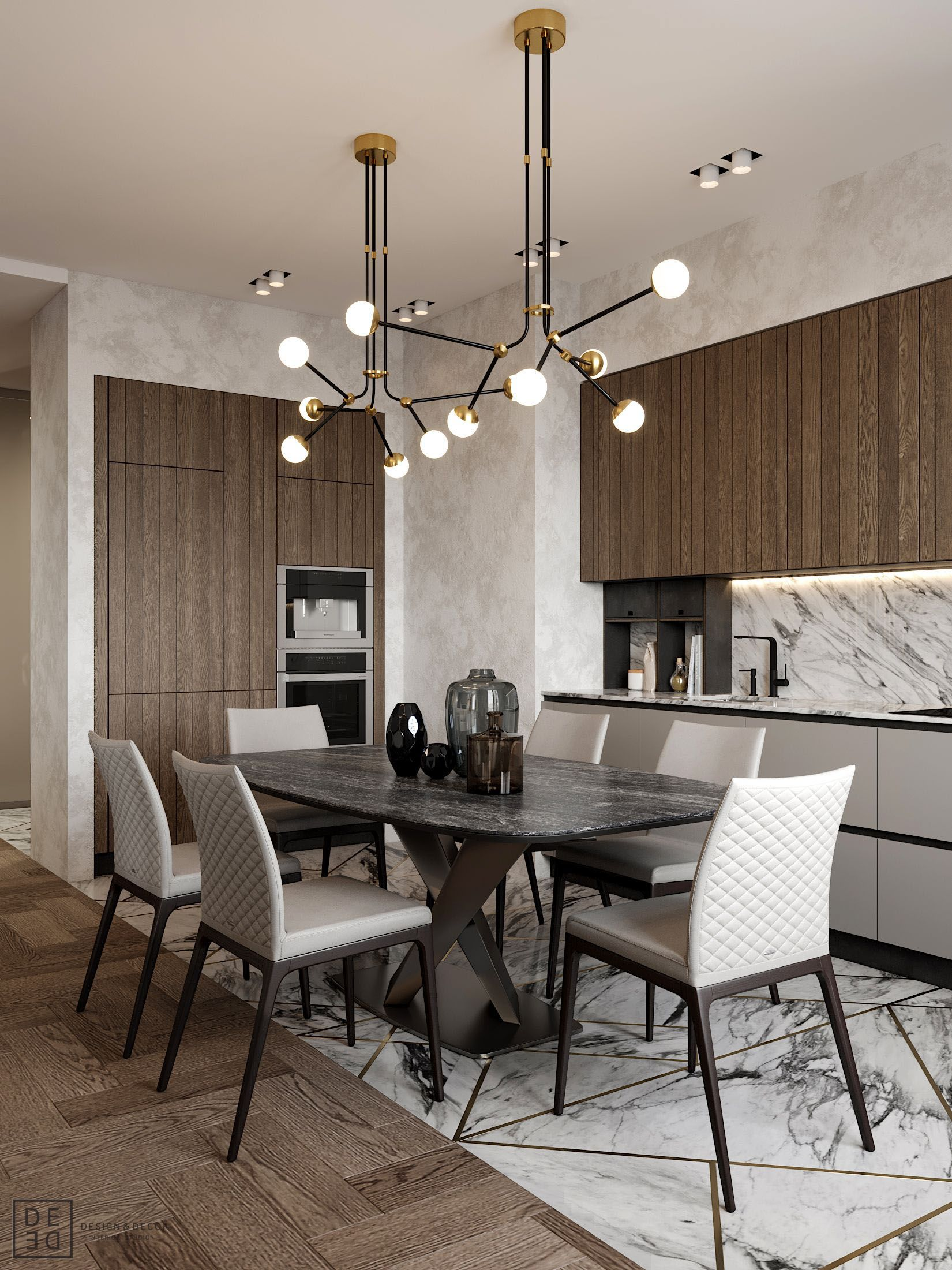 De De Interior With Sophisticated Nature On Behance Interior Design Dining Room Dining Room Interiors Dining Room Contemporary