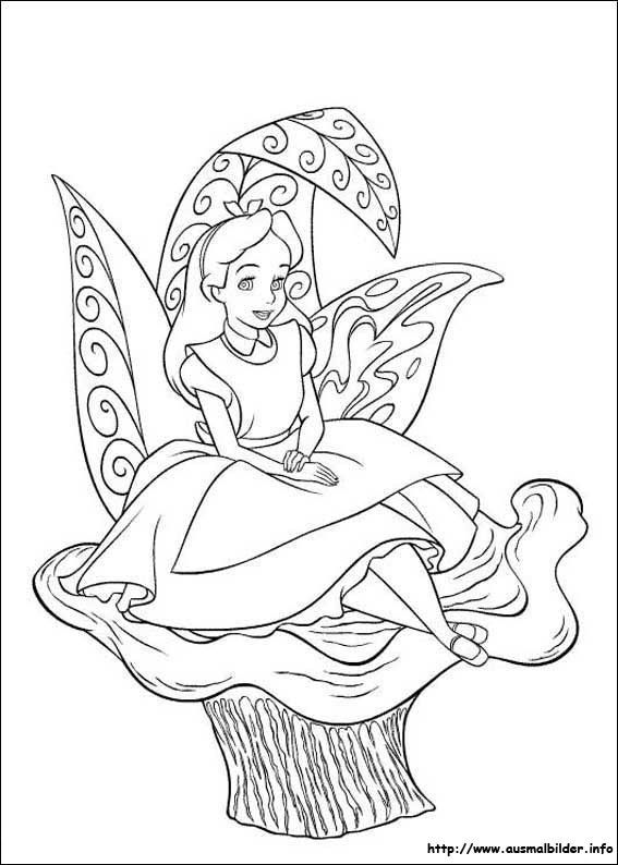 Alice Im Wunderland Malvorlagen Cathrin Coloring Pages Disney
