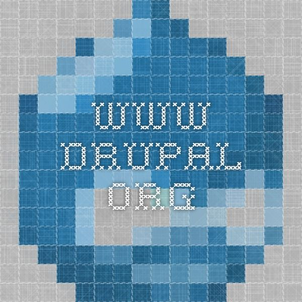 Entity API - www.drupal.org