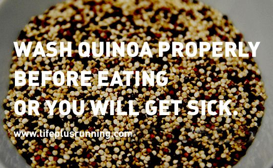 Wash quinoa properly before eating or you could develop an recipes forumfinder Choice Image