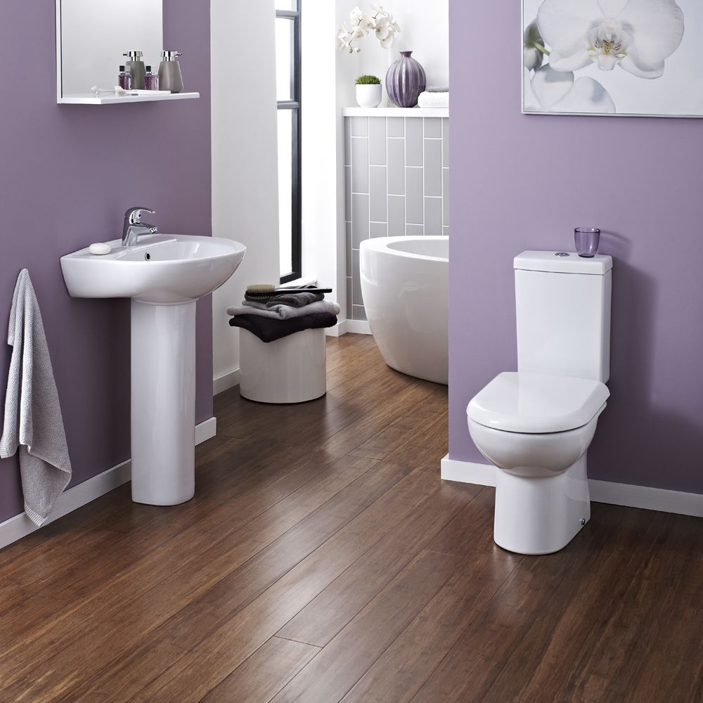 Vienna Short Projection Cloakroom Toilet with Seat