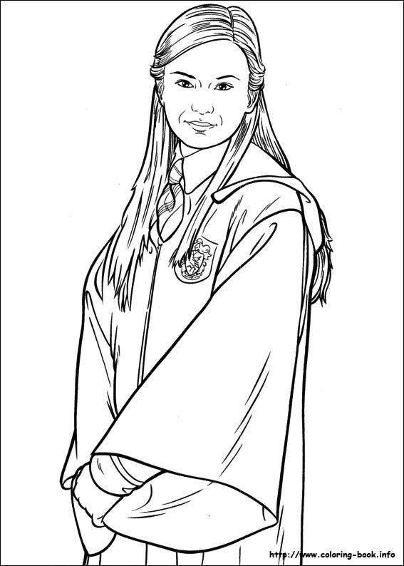 Harry Potter and the Goblet of Fire (2000). Coloring Page