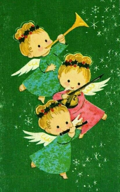 Weihnachtsbilder Shabby.Vintage Christmas Card Christmas Little Angels Vintage Cards