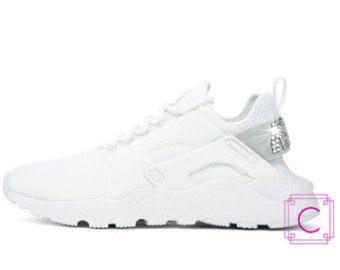 Women s Nike Air Huarache Run Ultra w SWAROVSKI® Crystals - Nike Wedding  Shoes - Bling Nike Shoes - Custom Shoes - Swarovski Nikes af60c26c7