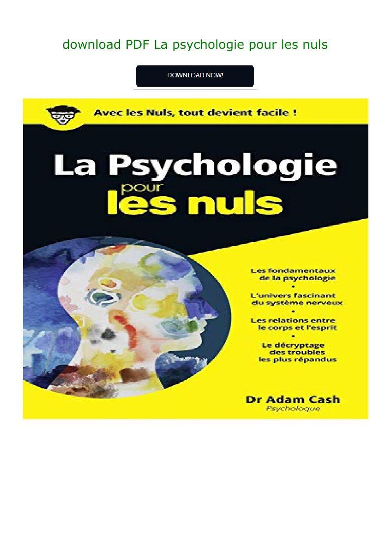Psychologie Pour Les Nuls Pdf : psychologie, Download, Psychologie