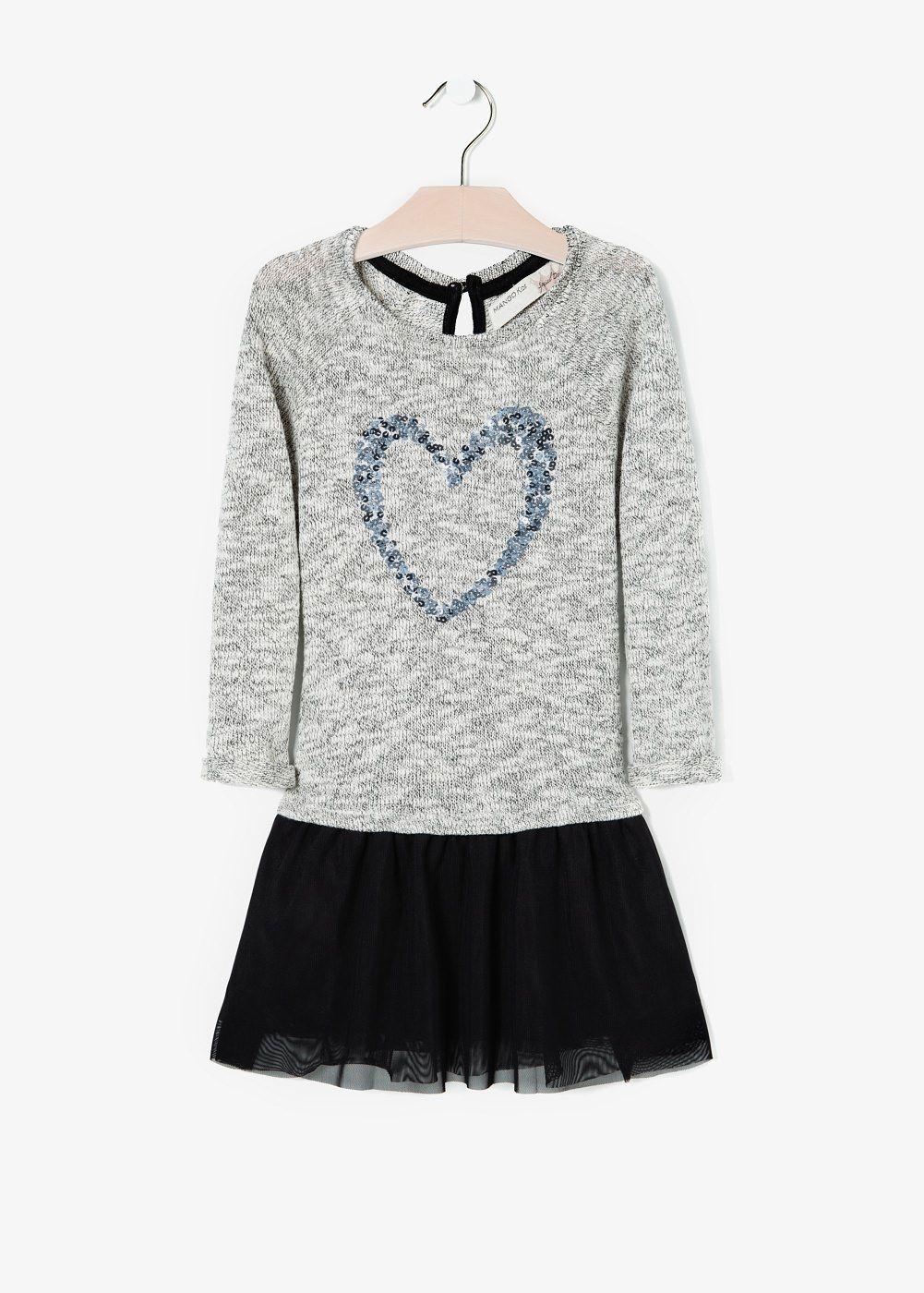 Sequin contrast-bodice dress