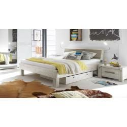 Reduced Solid Wood Beds Hasena Solid Wood Bed Caldera 100 200 Cm Acacia White Hasenahasena The Effect In 2020 Solid Wood Bed Bed Frame Living Room Decor Apartment