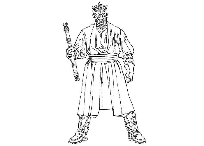 Darth Maul Coloring Pages Super Coloring Pages Darth Maul