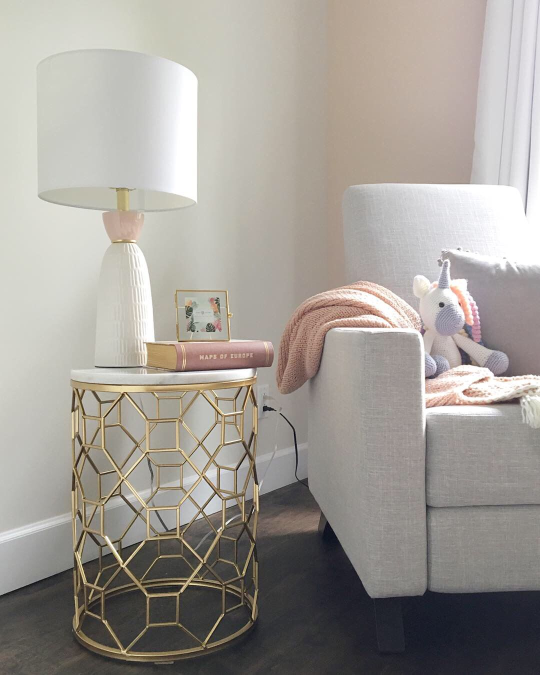 Pink Accent Table And Table Lamp Homesense Throw Homesense