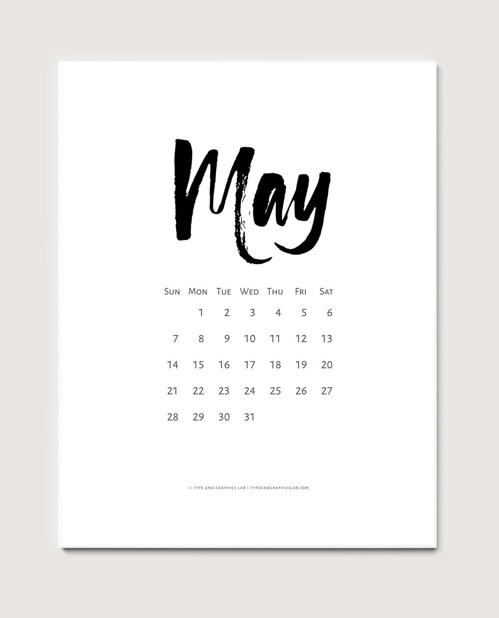 Calendar May 2018 Tumblr : Free calendar may lettering hand drawn digital