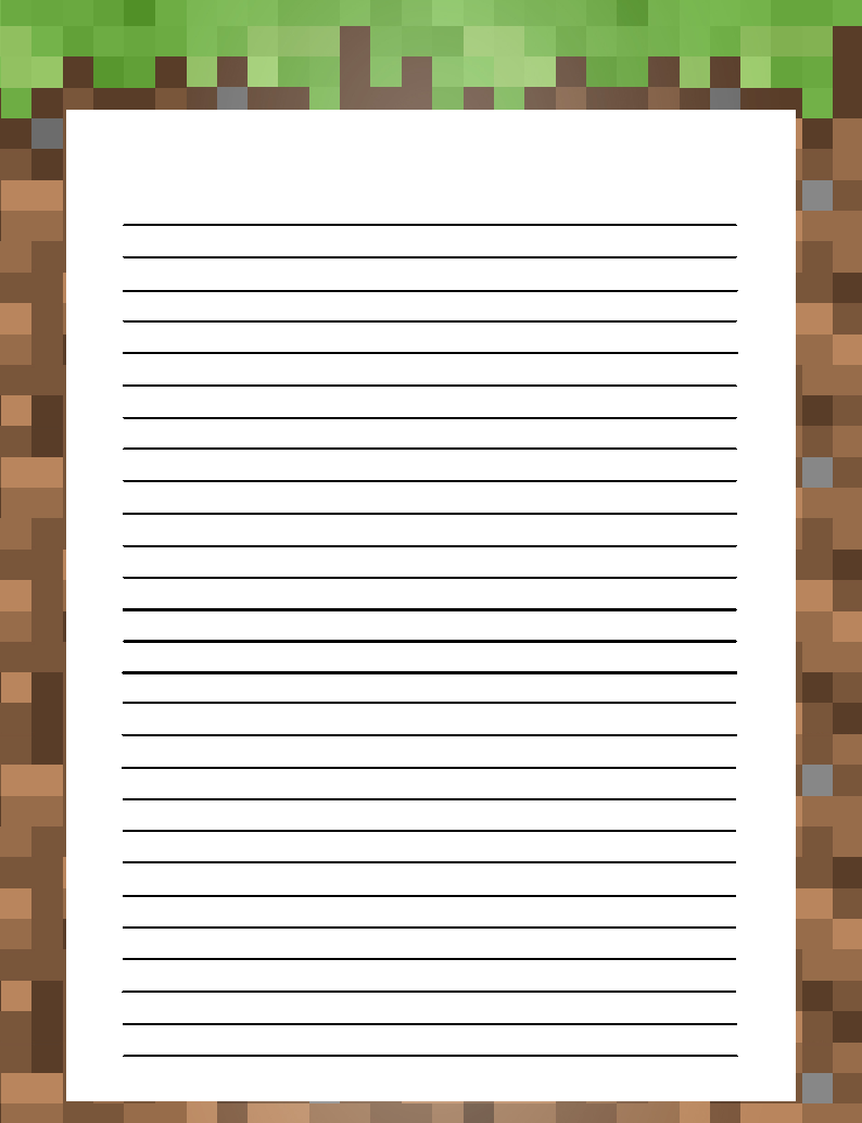 The Unplanned Homeschooler Free Stationery For Minecraft Fans Free Stationery Writing Paper Printable Stationery Minecraft Printables [ 1034 x 794 Pixel ]