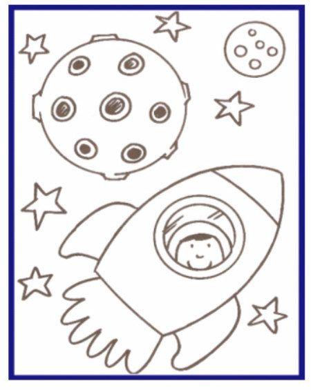 Space Rocket Coloring Pages For Kids Space Rocket Coloring Pages For Kids Astronautas Dibujos Dibujo Facil Hojas De Ejercicios Para Ninos