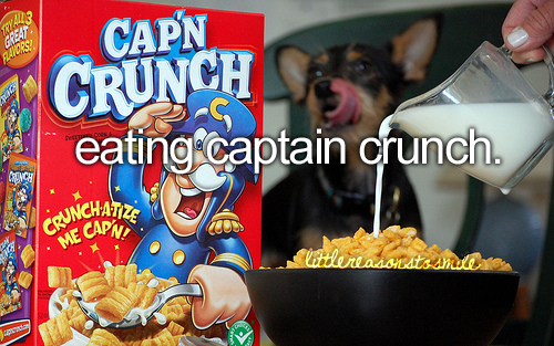 I ate Cap'n Crunch every morning before school and would have extra energy for at least 2 hours.