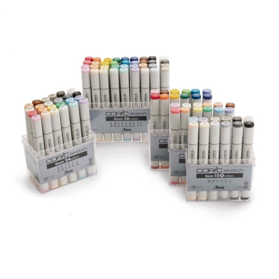 Copic Sketch Markers Basic 12 Colors Set B In 2019 Copic