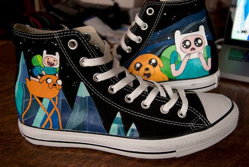 f4a137da9a3f Adventure Time Custom Chuck Taylors