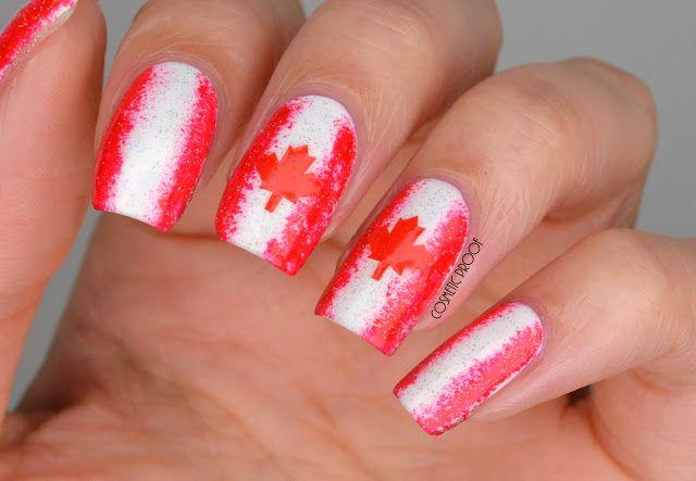 Canada Day Nail Art Nails Pinterest Makeup