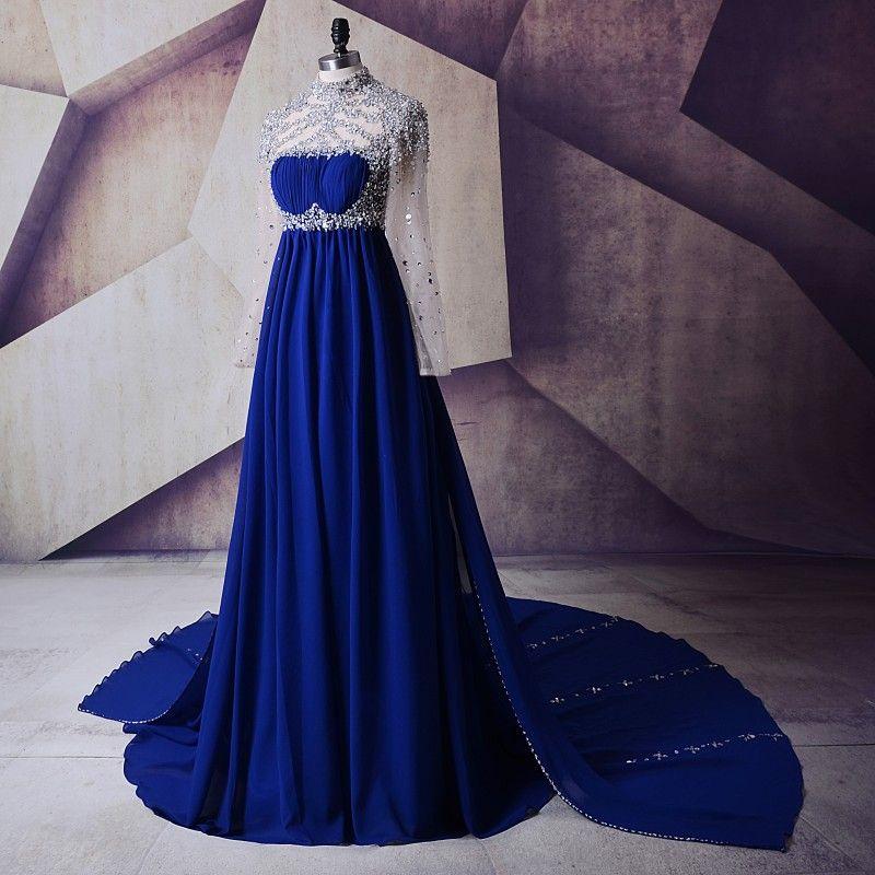 Maternity Evening Dresses For Pregnant 2018 Abendkleider Crystals ... 848cf2ba039e