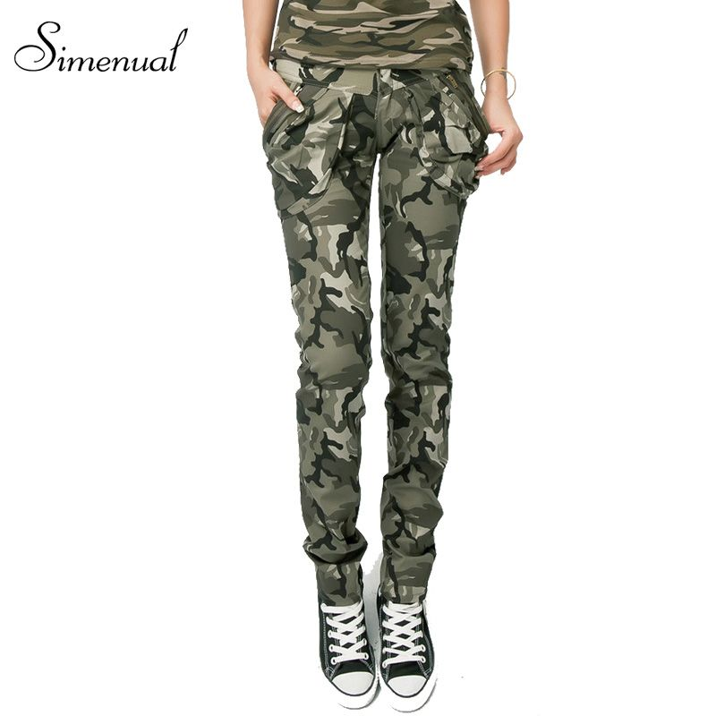 Army camouflage skinny jeans