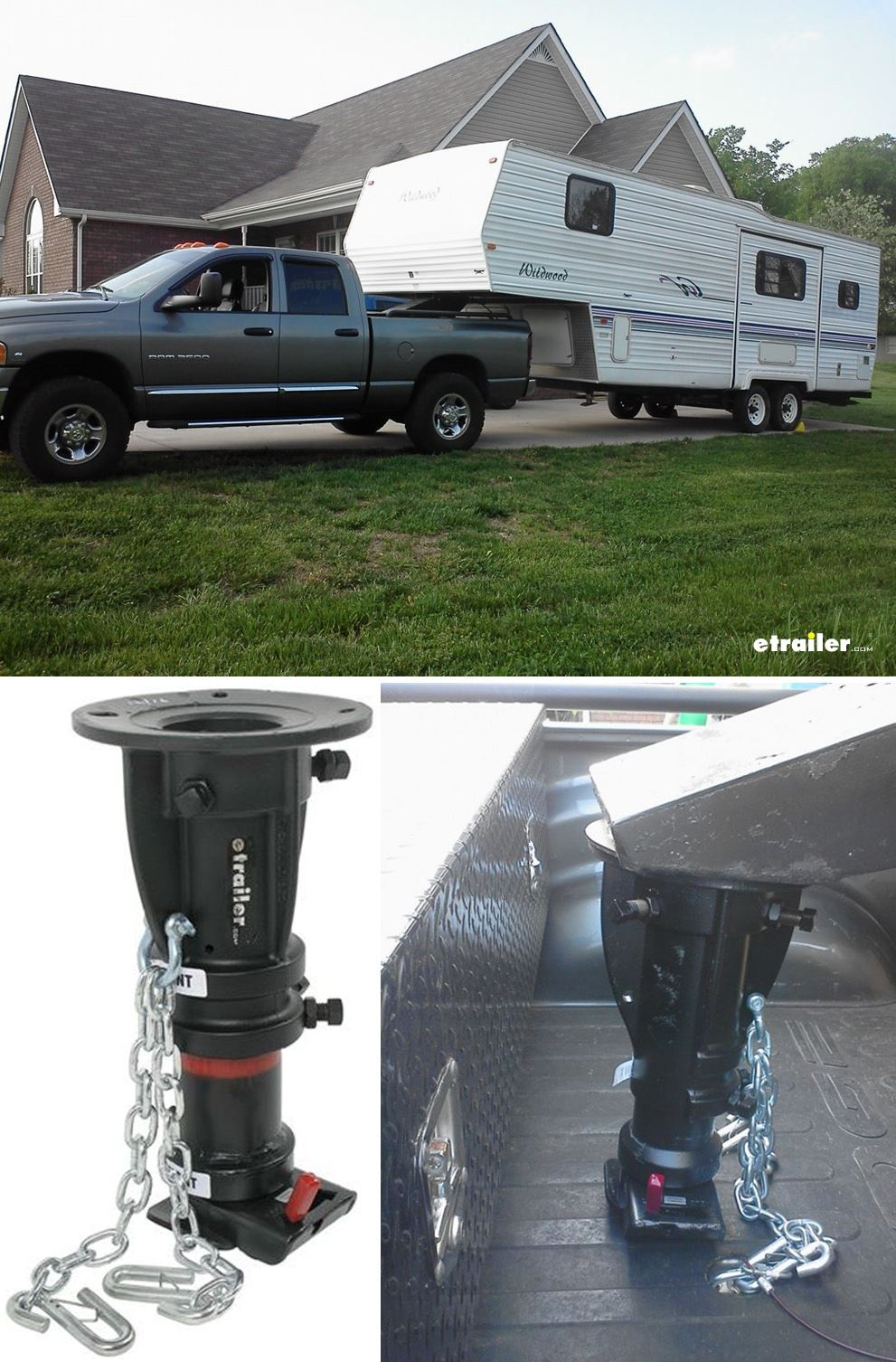 hook up and tow your 5th wheel camper with an adapter [ 991 x 1506 Pixel ]