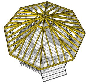 Building a gazebo dream gazebo pinterest for Hexagonal roof framing
