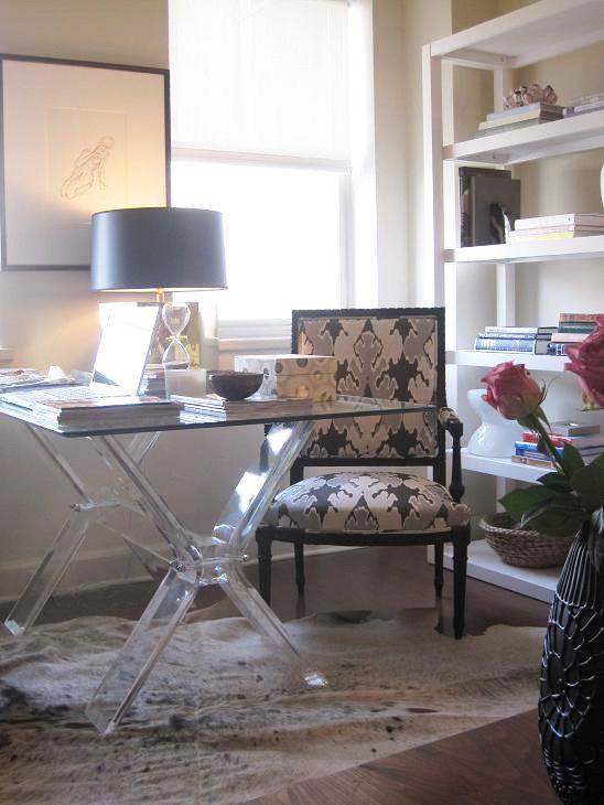 stunning west elm office chair | Suzie: Elizabeth Sullivan Design - Stunning office with ...