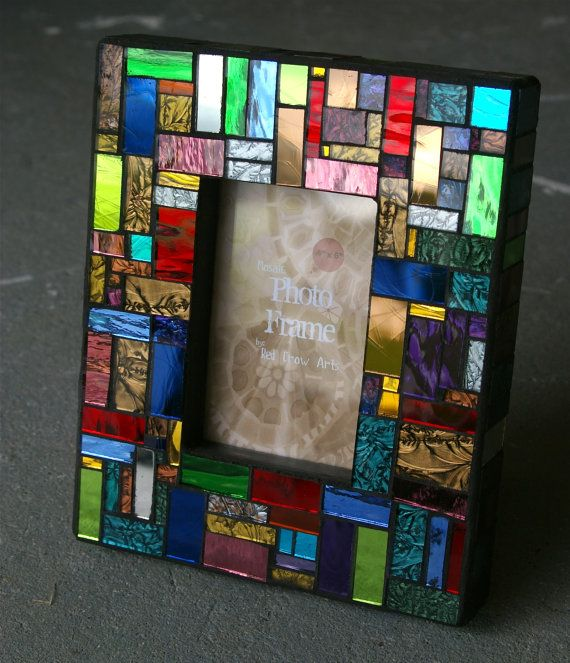 Mosaic Picture Frame by Red Crow Arts