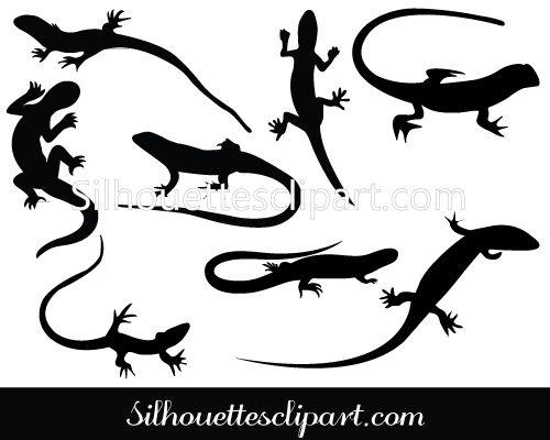 Lizards Silhouette Vectors Download Here Reptile Lizards Silhouette Art Silhouette Stencil Silhouette Vector
