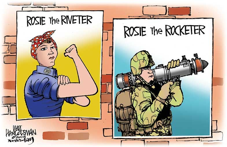 Women In The Military Cartoons With Images Women In Combat