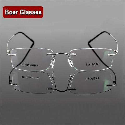 a5f5efa050a Beta titanium rimless glasses hinge non-screw flexible eyeglasses glasses  prescriptionmodlilj