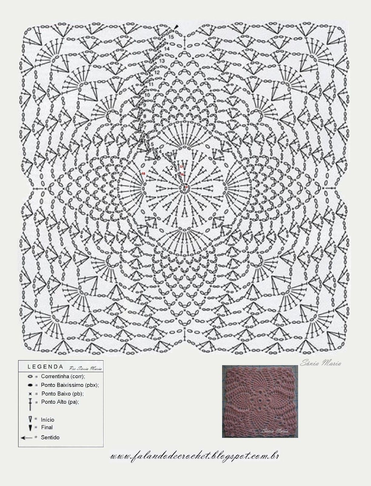 Pin de María Luisa Sellarés en patrón cuadrados | Pinterest ...