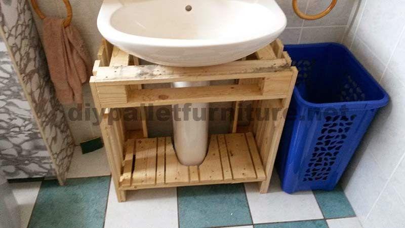 Muebles de Palets Muebles para el baño realizados íntegramente con