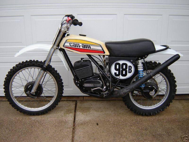 1975 Can Am 250mx Vintage Motocross Dirt Motorcycle Racing Bikes