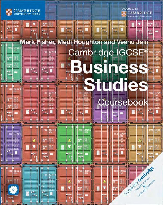cambridge igcse business studies coursebook with cd rom third