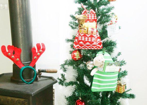 Christmas tree decoration hanging pocket, Gift warp, fireplace socks