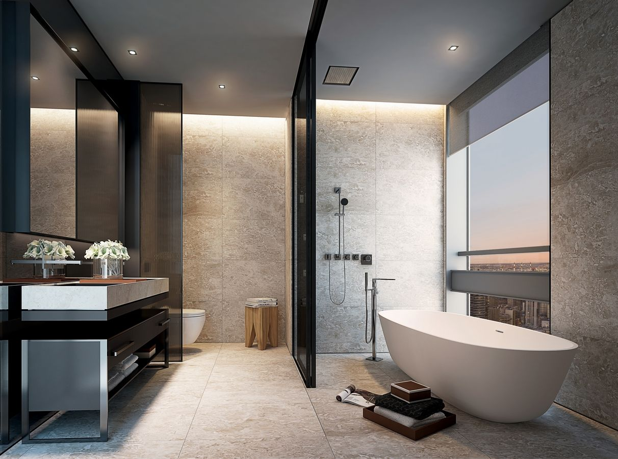Construction And Sales Begin On Scda S Billionaires Row Tower 118 East 59th Street 6sqft Luxury Hotels Interior Luxury Bathroom Master Baths Bathrooms Remodel