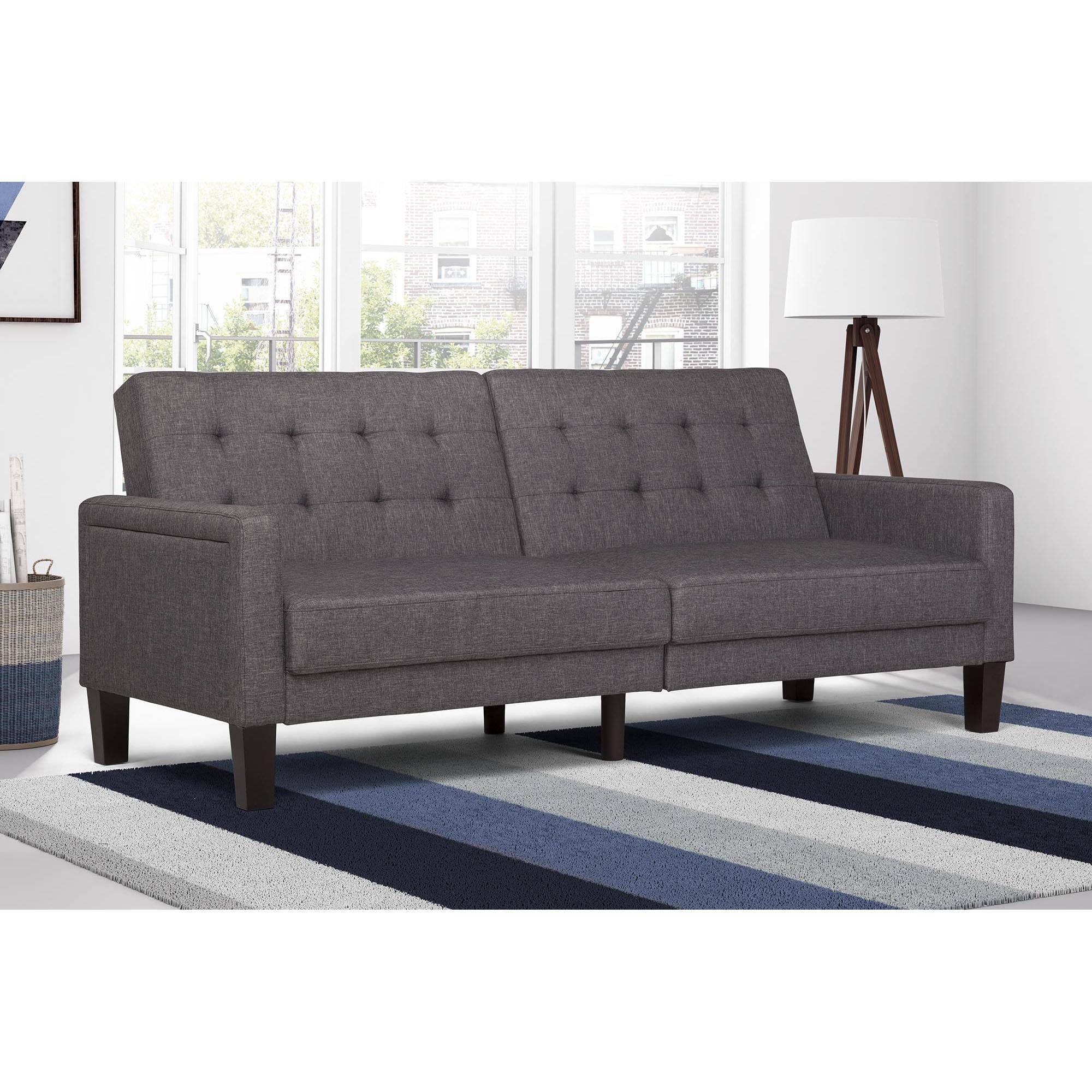 Better Homes Gardens Porter Fabric Tufted Sofa Bed Multiple Colors Walmart Com Futon Living Room Futon Sofa Futon